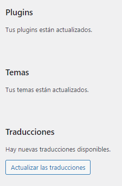 cambiar idioma elementor actualizacion traducciones wordpress