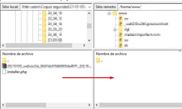 filezilla copiar archivos directorio