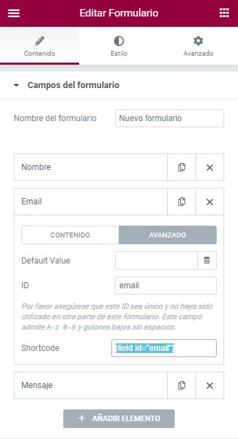 configuracion email formulario elementor pro