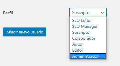 menu perfil usuario wordpress