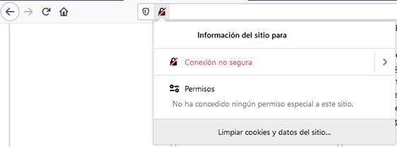 navegador firefox web http no segura alerta