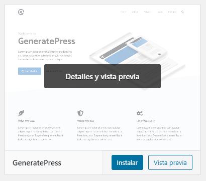 wordpress instalar tema