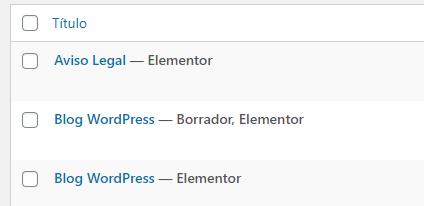 wordpress clonar pagina