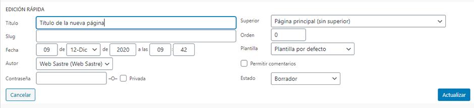 primeros cuatro pasos despues instalacion wordpress clonar pagina