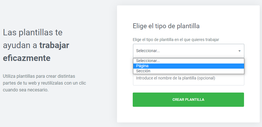 wordpress elementor crear plantilla