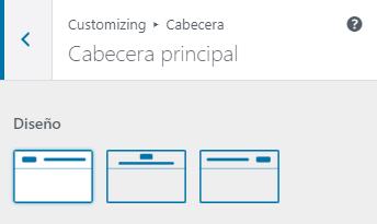 wordpress ajustes cabecera principal