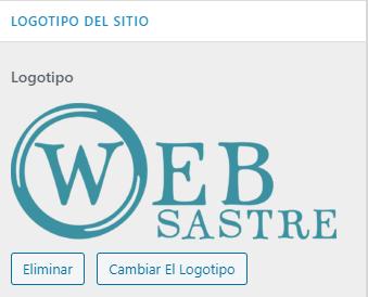 wordpress ajustes subir logotipo