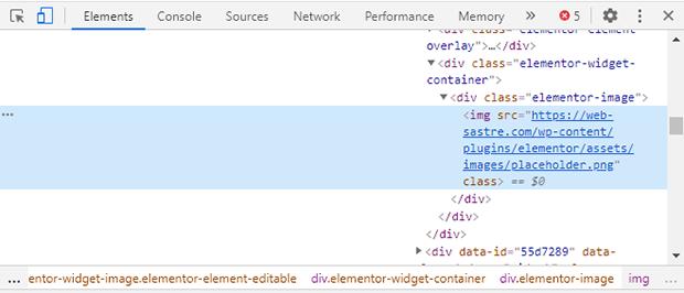 wordpress inspeccionar imagen navegador