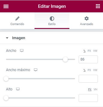 trucos elementor widget imagen svg editar imagen estilo