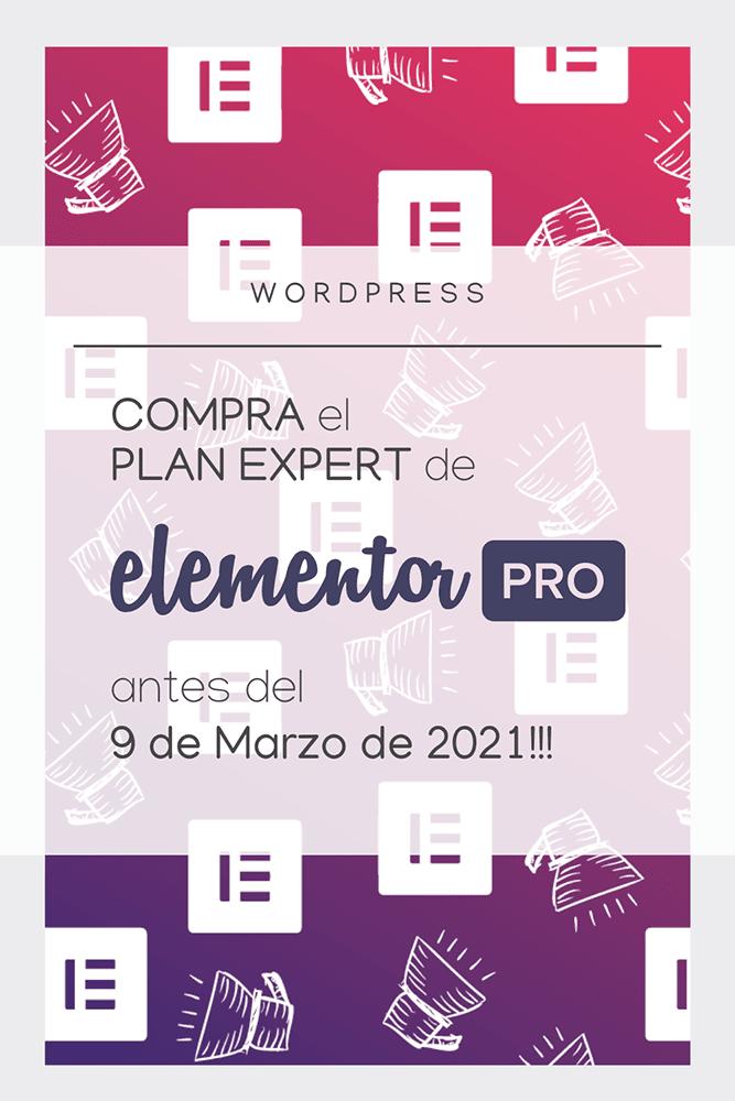wordpress compra elementor pro antes 9 marzo 2021 cambio precios