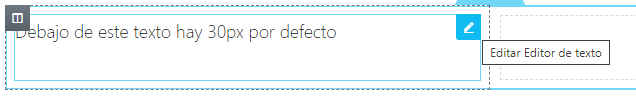 wordpress elementor 30px por defecto widget texto edicion